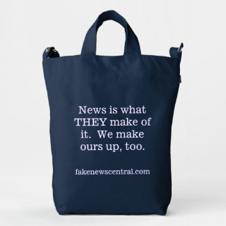 News is what THEY make of it Tote Duck Bag