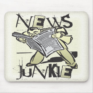 News Junkie Mouse Pad