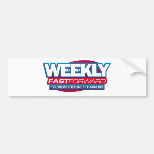 News Makeup, Weekly Fast Forward Logo Bumper Sticker