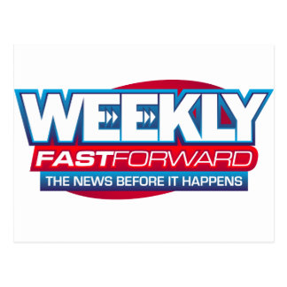 News Makeup, Weekly Fast Forward Logo Postcard