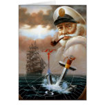 NEWS & Map Captain 2 or Sea Captain Greeting Card