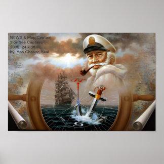 NEWS & Map Captain 2 or Sea Captain Print