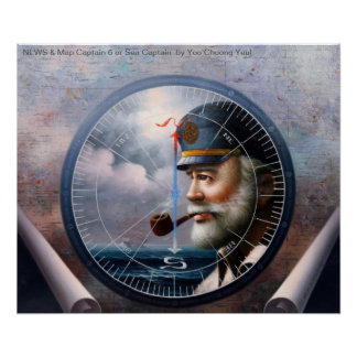 NEWS & Map Captain 6 or Sea Captain Poster
