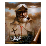 NEWS & Map Captain/anchor or Sea Captain Poster