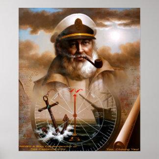 NEWS & Map Captain/anchor or Sea Captain Poster