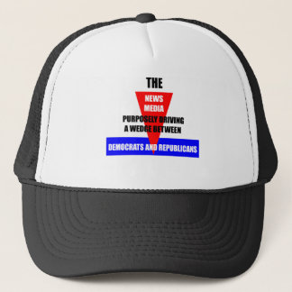 news media trucker hat