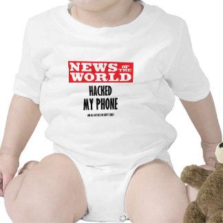 News of the World Hacked My Phone Tshirt