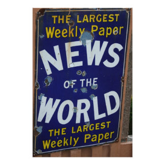 News of the World vintage advertising poster Art Photo