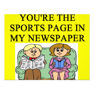 NEWS paper sports page lovers Invitations