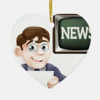 News reporter christmas ornament