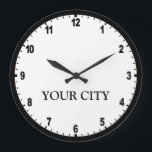 "News Room Clock<br><div class=""desc"">Personalize this clock with your home town</div>"