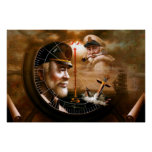 NEWS & TWO Map 4 Captain or TWO Sea Captain Poster