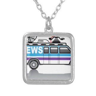News Van vector Silver Plated Necklace