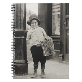 Newsboy in St Louis by Lewis Wickes Hine 1910 Notebook