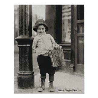 Newsboy in St Louis by Lewis Wickes Hine 1910 Posters