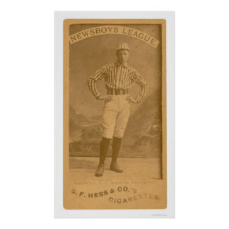 Newsboy League Baseball 1888 Poster