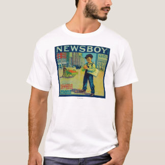 Newsboy Orange LabelRedlands, CA T-Shirt