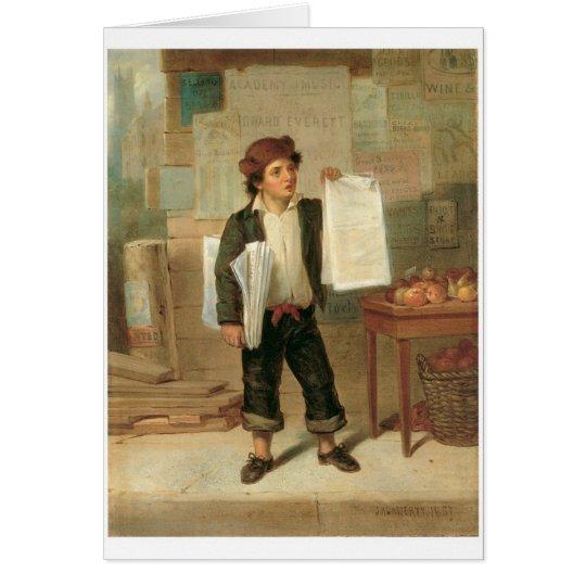 Newsboy Selling New-York Herald, circa 1857 Card