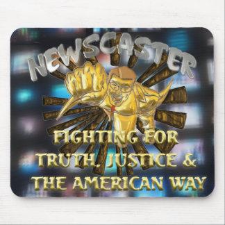 Newscaster Superhero Mouse Pad