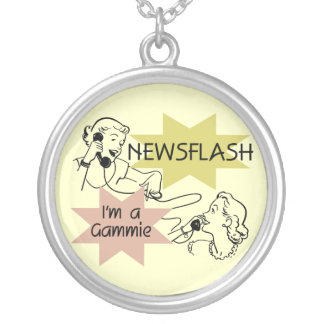 Newsflash I'm a Gammie t-shirts and Gifts Necklace