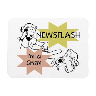 Newsflash I'm a Gram Gifts Rectangular Magnet