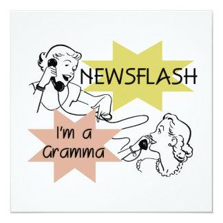 Newsflash I'm a Gramma T-shirts and Gifts Card
