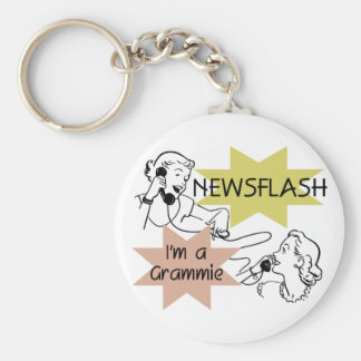 Newsflash I'm a Grammie T-shirts and Gifts Key Chain