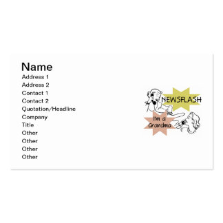 Newsflash I'm a Grandma T-shirts and Gifts Double-Sided Standard Business Cards (Pack Of 100)