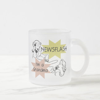 Newsflash I'm a Grandma T-shirts and Gifts 10 Oz Frosted Glass Coffee Mug