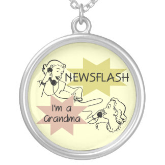 Newsflash I'm a Grandma T-shirts and Gifts Necklaces