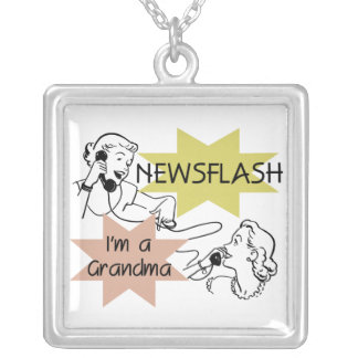 Newsflash I'm a Grandma T-shirts and Gifts Personalized Necklace