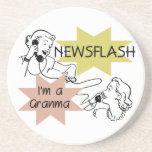 Newsflash I'm a Granma Tshirts and Gifts Coasters