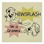 Newsflash I'm a Granma Tshirts and Gifts Posters