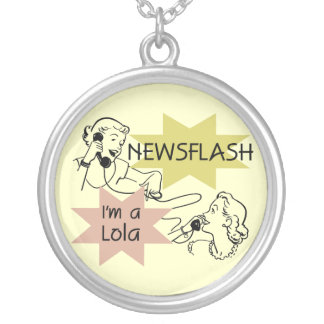 Newsflash I'm A Lola T-shirts and Gifts Custom Necklace