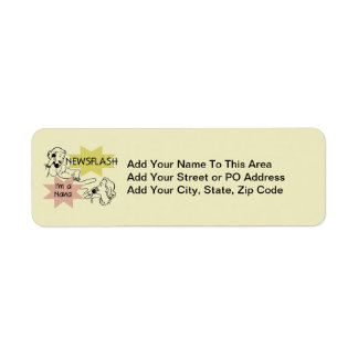 Newsflash I'm a Nana T-shirts and Gifts Return Address Label