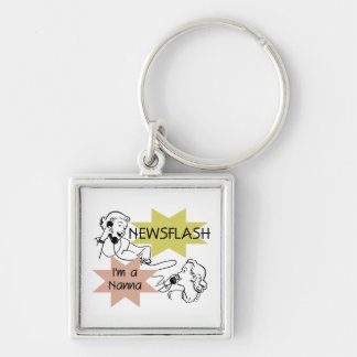 Newsflash I'm a Nanna T-shirts and Gifts Keychain