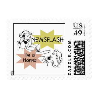 Newsflash I'm a Nanna T-shirts and Gifts Postage Stamp