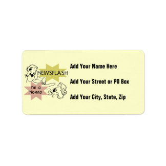 Newsflash I'm a Nonna Tshirts and Gifts Personalized Address Labels