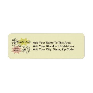Newsflash I'm a Nonna Tshirts and Gifts Return Address Labels
