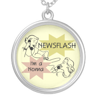 Newsflash I'm a Nonna Tshirts and Gifts Necklaces