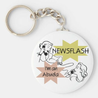 Newsflash I'm an Abuela T-shirts and Gifts Key Chain