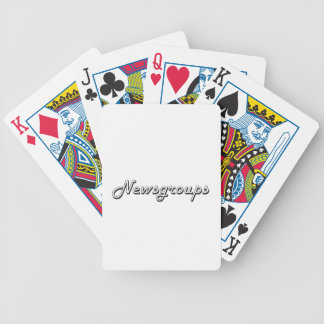 Newsgroups Classic Retro Design Bicycle Playing Cards