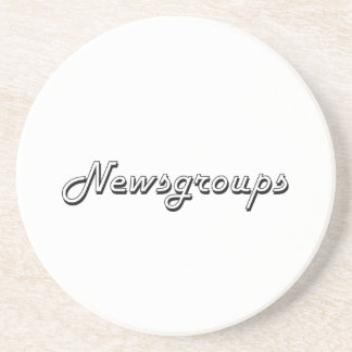 Newsgroups Classic Retro Design Coaster