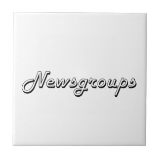 Newsgroups Classic Retro Design Small Square Tile