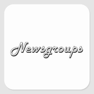 Newsgroups Classic Retro Design Square Sticker