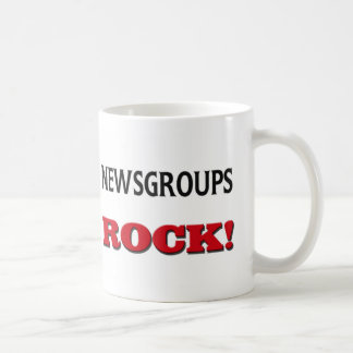 Newsgroups Rock Classic White Coffee Mug