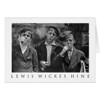 Newsies at Skeeter's Branch -By Lewis Wickes Hine Card