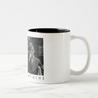 Newsies at Skeeter's Branch - Lewis Hine Two-Tone Coffee Mug