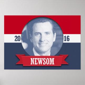 Newsom 2016 poster