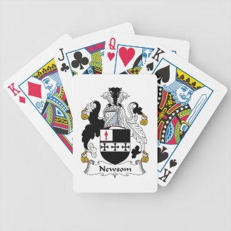 Newsom Family Crest Bicycle Poker Deck